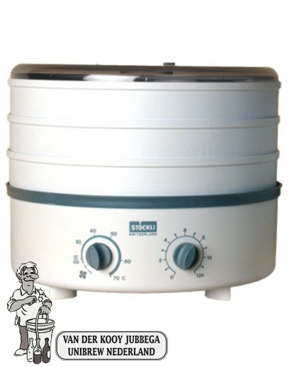 Stöckli droogapparaat met drie roosters, thermosstaat en tijdschakelaar