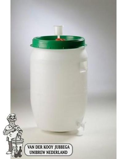 Gistingsvat plastic incl. kraan en waterslot 120 liter