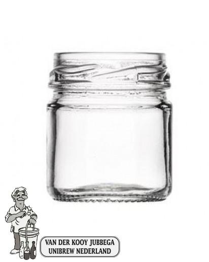 Jampot rond 45 ml inclusief twist off deksel 43mm.
