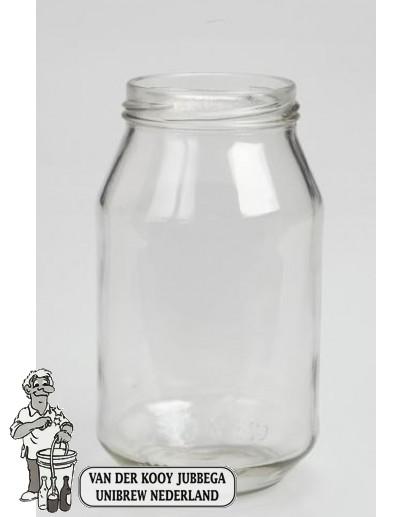 Jampot rond 500 ml inclusief twist off deksel 82mm.