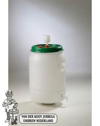 Gistingsvat plastic incl. kraan en waterslot 60 liter