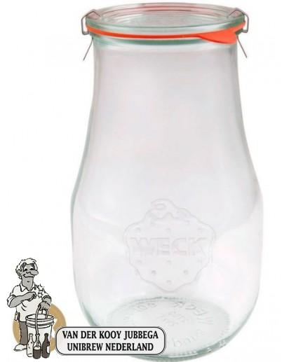 Weckglas tulp 2,7 ltr. per doos van 4 stuks 739 (exclusief weckklemmen)