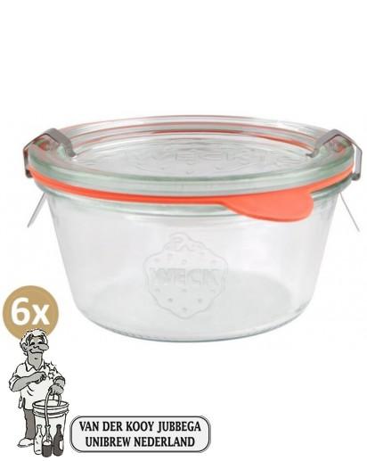 Weckglas stort 0,29 ltr. per doos van 6 stuks 569 (exclusief weckklemmen)