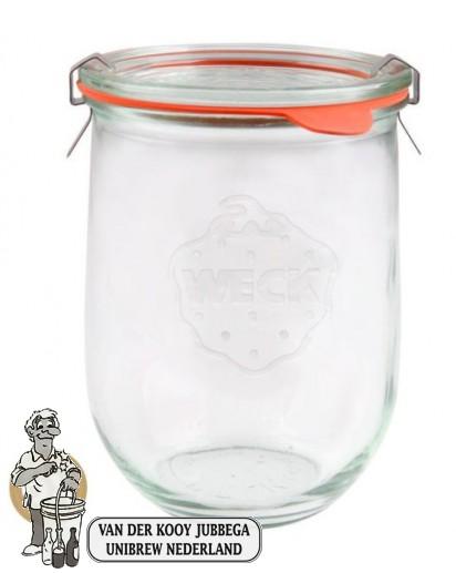 Weckglas tulp 1 ltr. per doos van 6 stuks 745 (exclusief weckklemmen)