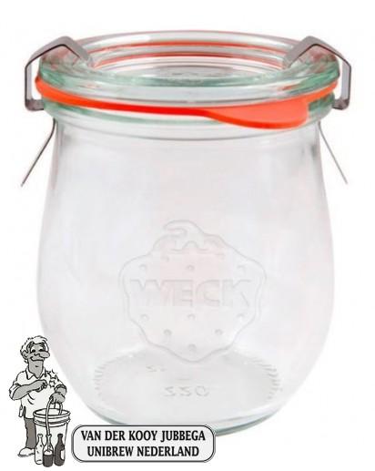 Weckglas mini tulp 0,22 ltr. per stuk 762 (exclusief weckklemmen)