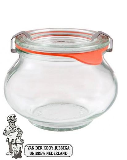 Weckglas sier 0,56 ltr. per stuk 901 (exclusief weckklemmen)