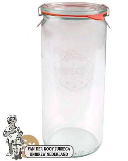 Weckglas asperge 1 ltr. per doos van 6 stuks 908 (exclusief weckklemmen)