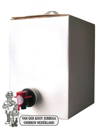 Bag in Box Wit  Kompleet 3 Liter met aluminnium binnenzak