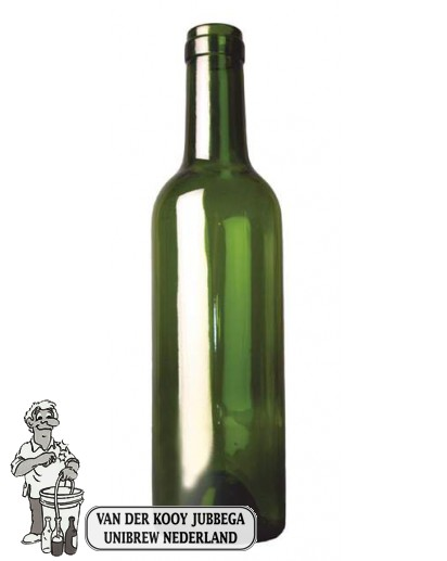 Bordeauxfles groen 0,38 ltr / stuk