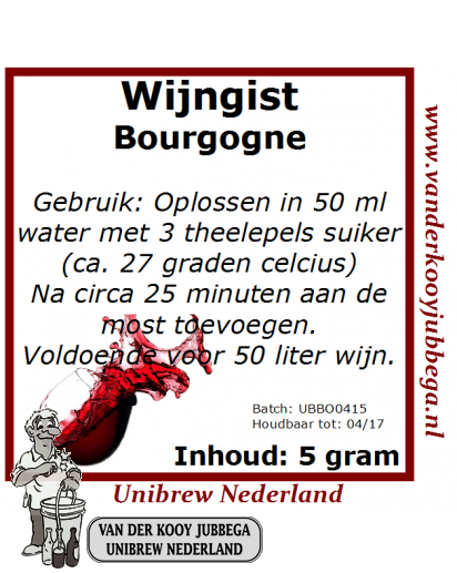 Wijngistsachet Bourgogne