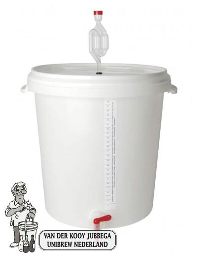 Gistingsemmer met deksel, waterslot en kraan van 30 liter