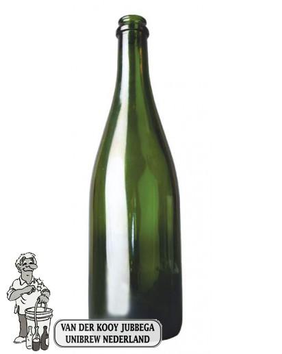 Cider/geuze fles 0,75 ltr kroonkurkmondig 29 mm / stuk