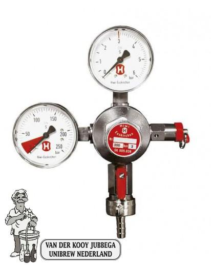 CO2 Drukregelaar met 2 manometers