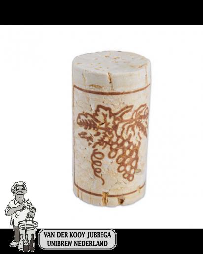 Wijnkurk nr.3 col /100 stuks 24x49 mm voorbehandeld