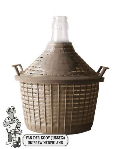 Gistingsfles 54 liter met mand. * Dit artikel is alleen verkrijgbaar in onze winkel.