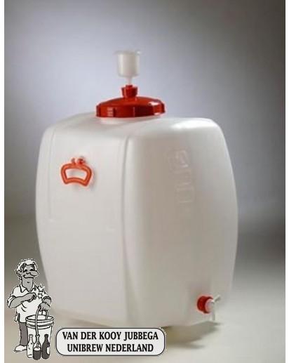 Gistingscontainer plastic incl. kraan en waterslot 150 liter