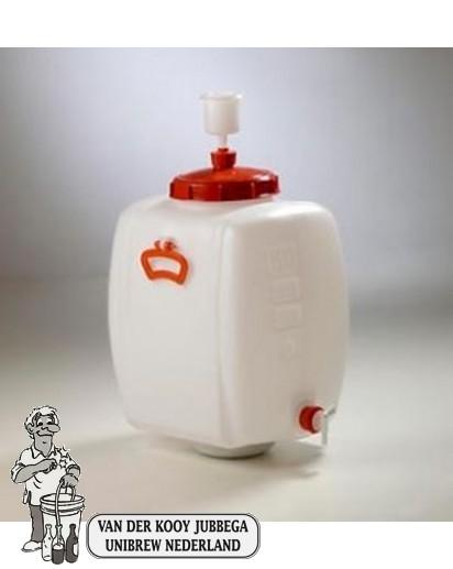 Gistingscontainer plastic incl. kraan en waterslot 60 liter