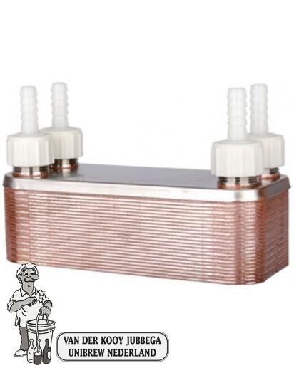 Wortkoeler RVS 24 platen incl. slangtuiten