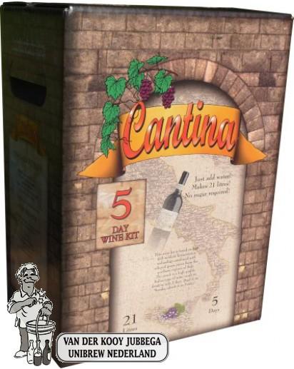 Cantina 5 dagen wijnpakket voor 21 liter Cabernet Sauvignon (nog 1 op voorraad)