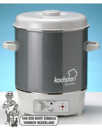 Kochstar Inmaakpan geëmailleeerd elektrisch met thermostaat 27 liter
