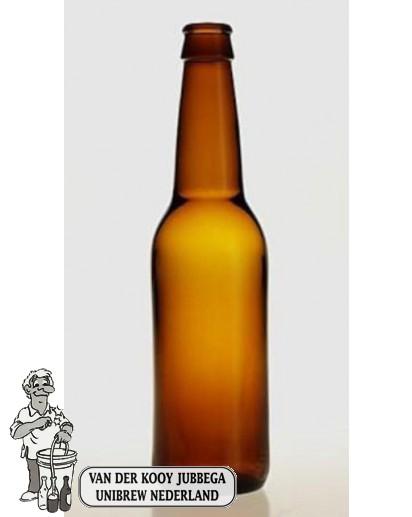 Bier fles Long Neck 33 cl bruin 24 stuks.