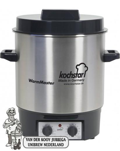 Kochstar Roestvrijstalen pan 27 liter met 1800 Watt verwarmingselement, thermostaat en tijdschakelaar