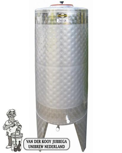 Speidel RVS Gistingstank 240 liter met koelmantel.