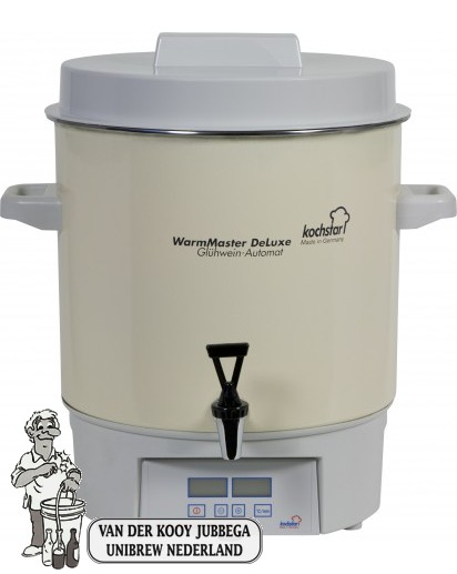 "Kochstar emaïlle Warmmaster de Luxe 27 liter pan met digitale display, tijd en temperatuurinstelling en 1/2"" kraan."