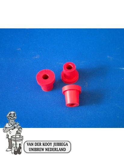 Rubber doorvoer voor waterslot rood