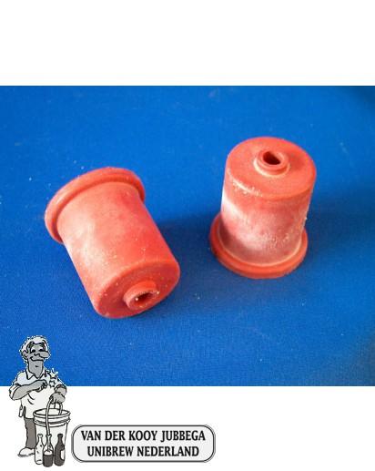 Rubbercap met gat 35 mm
