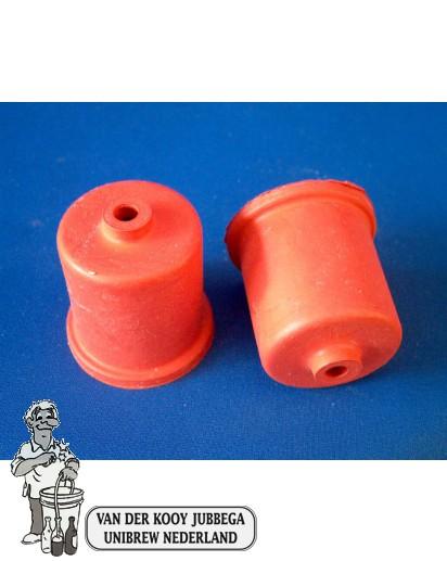 Rubbercap met gat 40 mm