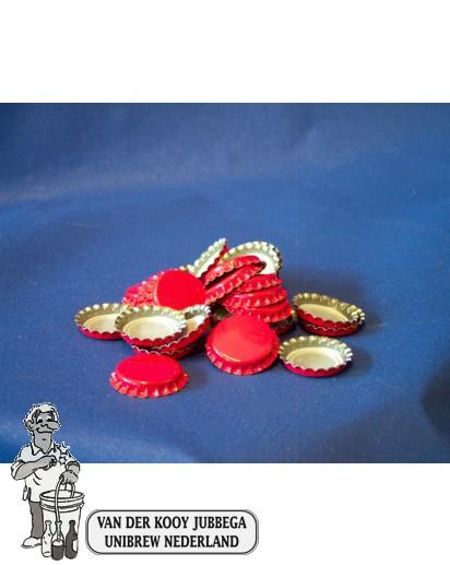 Kroonkurk per 100 stuks 26 mm rood