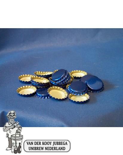 Kroonkurk per 100 stuks 26 mm blauw
