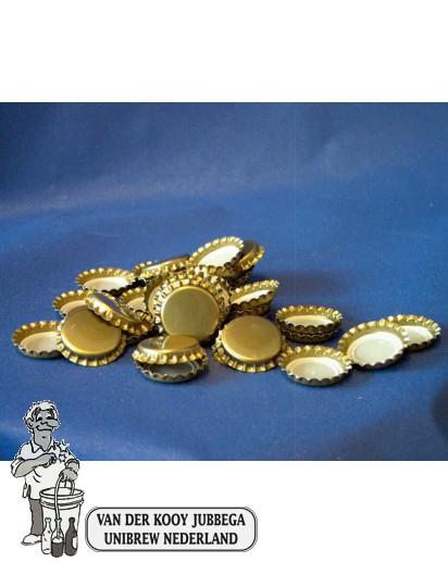 Kroonkurk per 100 stuks 26 mm goud
