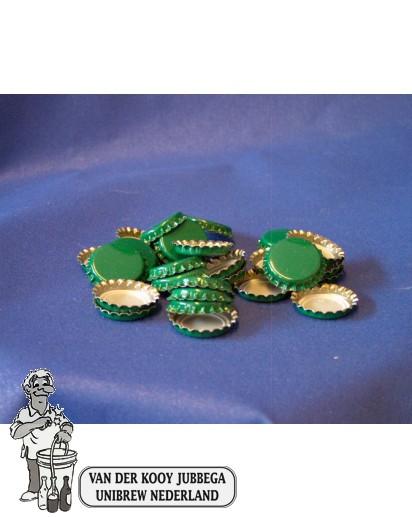 Kroonkurk per 100 stuks 26 mm groen
