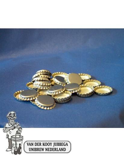 Kroonkurk per 100 stuks 26 mm zilver