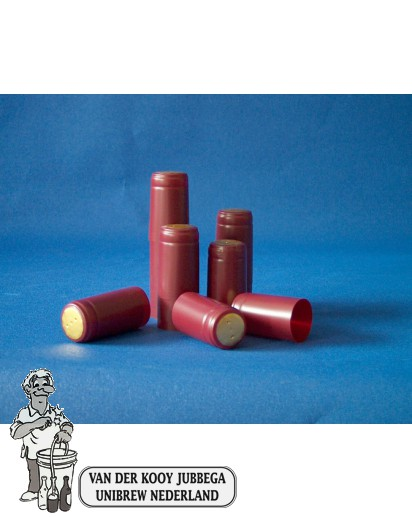 Krimpkapsules 50 stuks rood