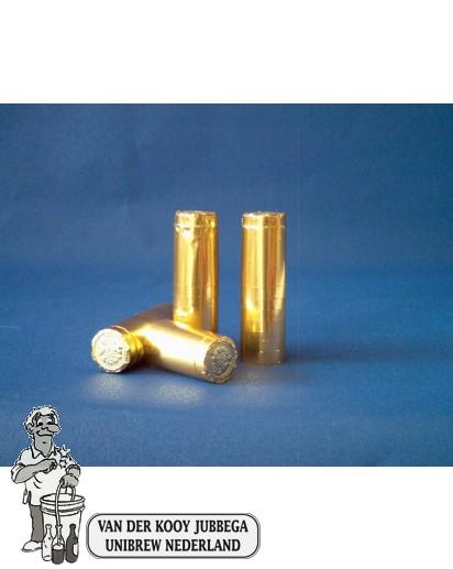 Aluminium kapsules goud 100 stuks.