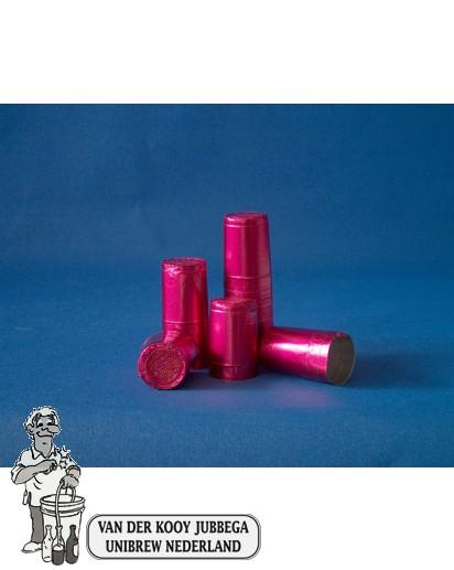 Aluminium kapsules rose 1000 stuks.