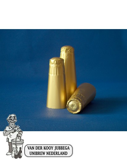 Aluminium kapsules champagne goud 1000 stuks.