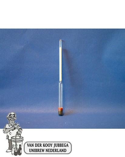 alkoholmeter met thermometer 0-100