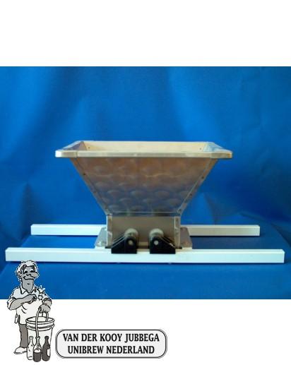 Fruitmolen met laadbak van 10 liter RVS