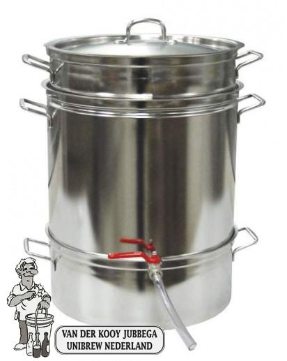 Roestvrijstalen stoomextractor Jumbo 24 liter