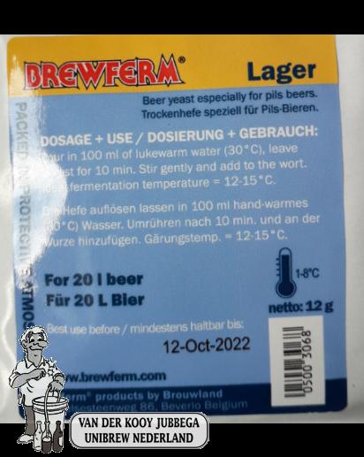Biergist Brewferm  Lager 12 gram