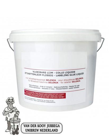 Etikettenlijm vloeib. 10 kg vr SELENIA ( 1 op voorraad)