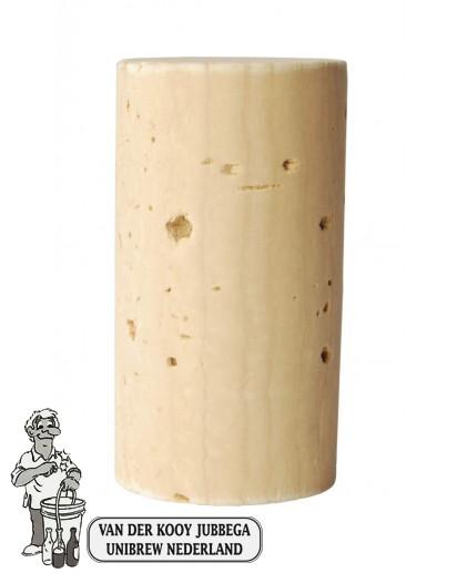 Wijnkurk nr.2 nat /100 stuks 23x38 mm voorbehandeld