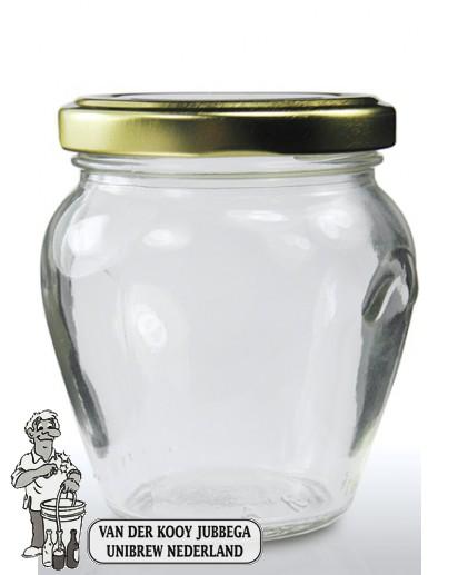 Jampot rond met oor 314 ml incl twist off deksel 63 mm