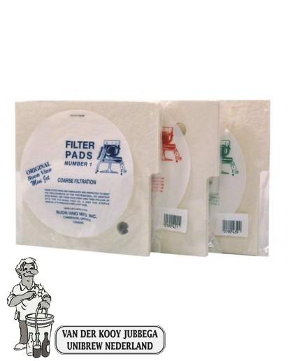 Filterplaten voor Mini Jet steriel / 3 stuks nummer 3