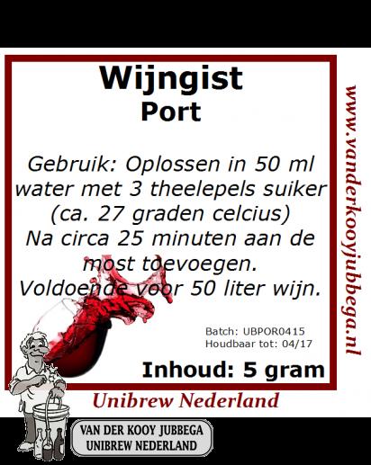 Wijngistsachet Port