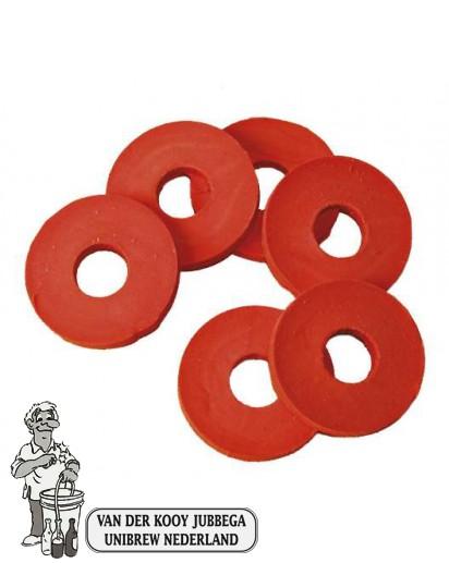 Rubberen ringen voor beugels 10 stuks.